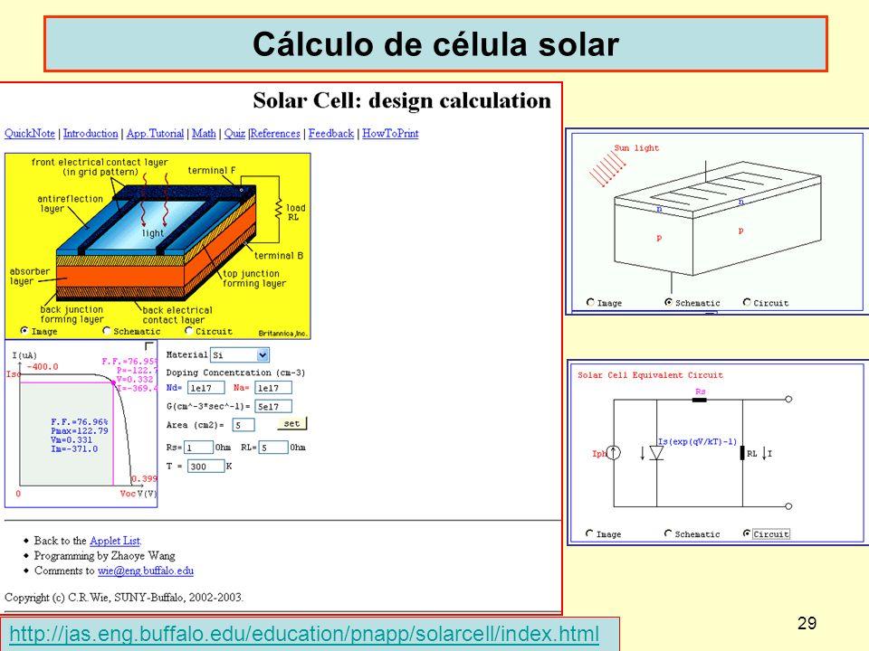 Cálculo de célula solar