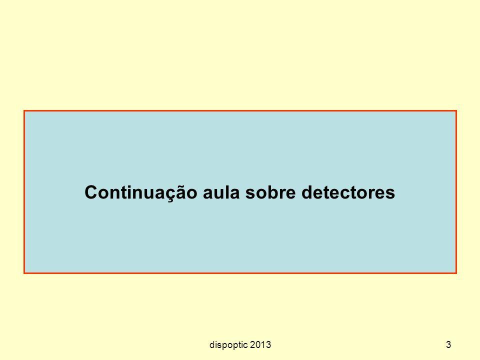 Continuação aula sobre detectores