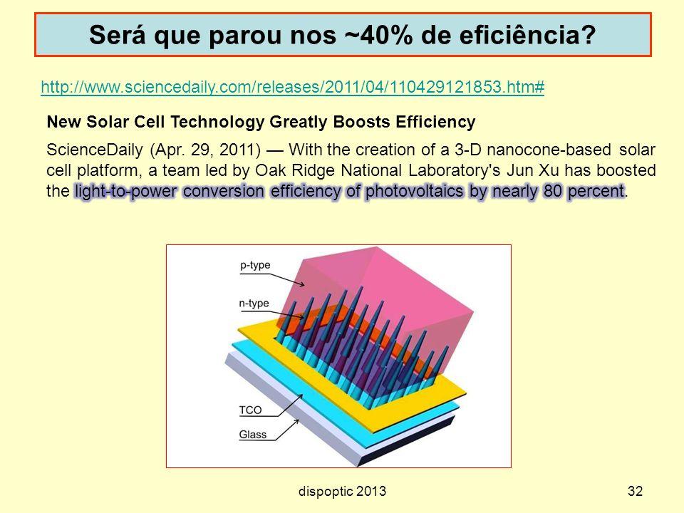 Será que parou nos ~40% de eficiência