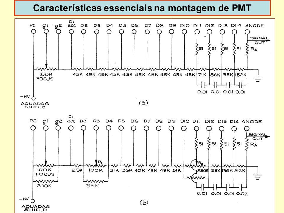 Características essenciais na montagem de PMT