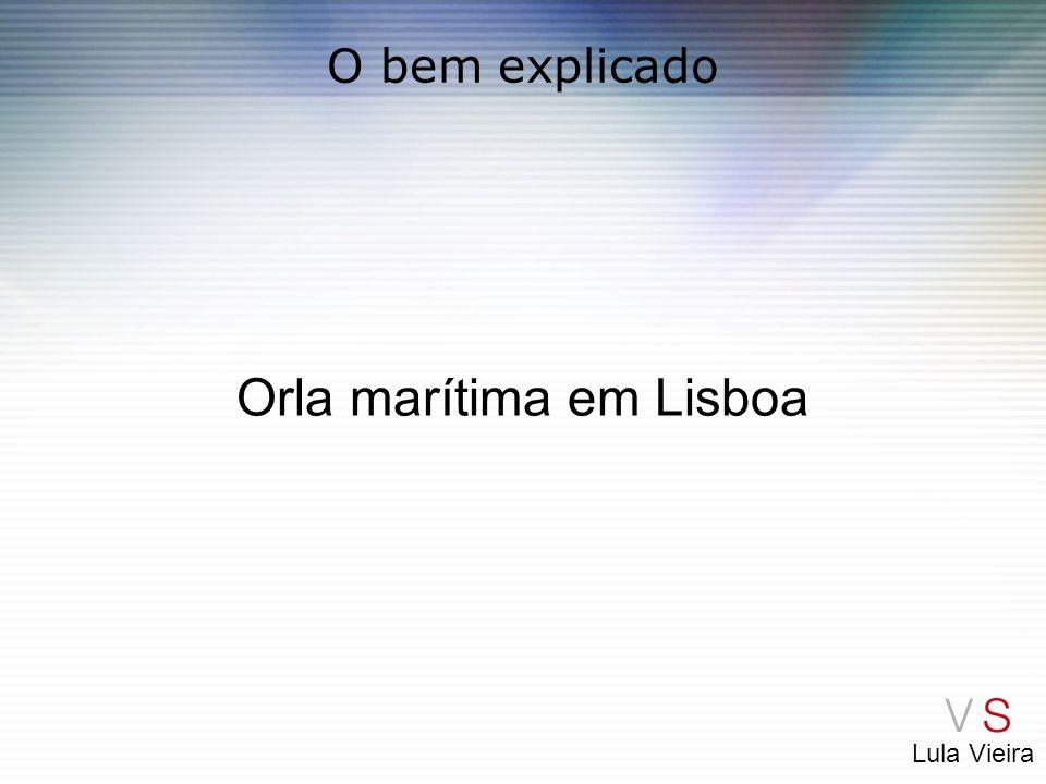Orla marítima em Lisboa