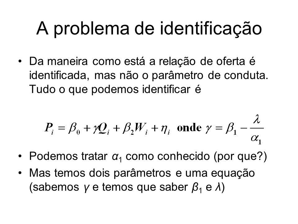 A problema de identificação