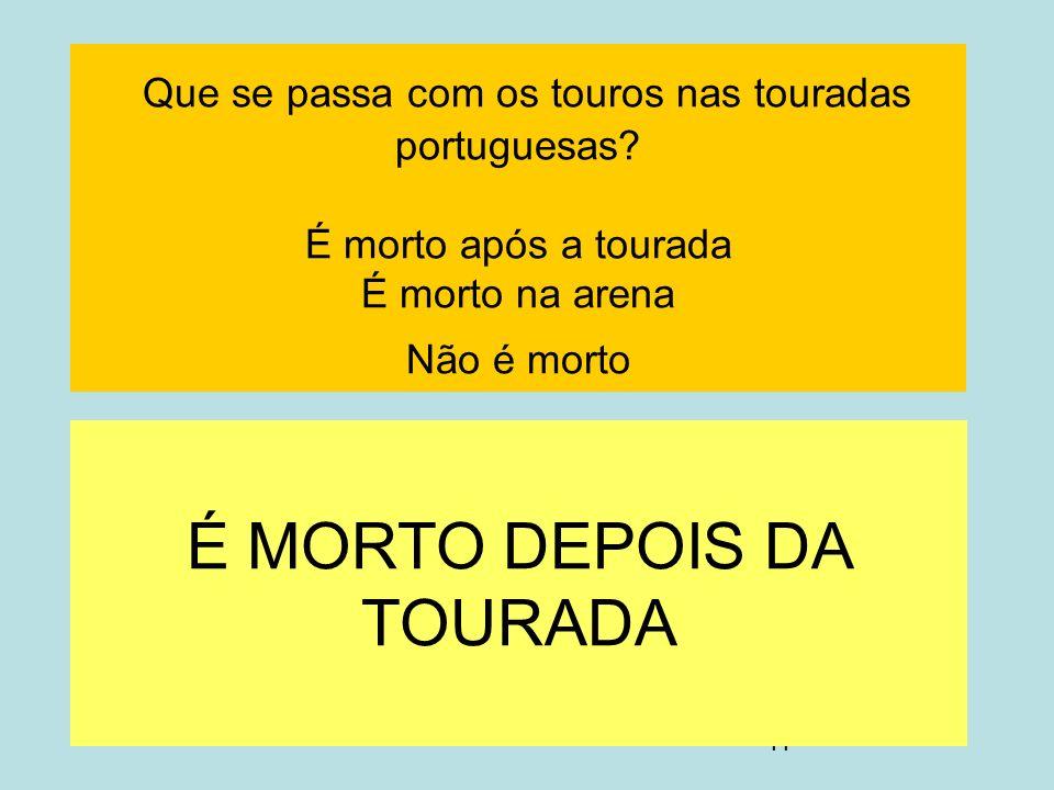 É MORTO DEPOIS DA TOURADA