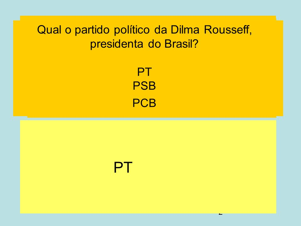 Qual o partido político da Dilma Rousseff, presidenta do Brasil