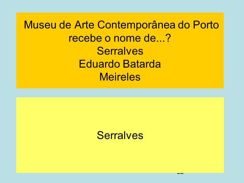 Museu de Arte Contemporânea do Porto recebe o nome de