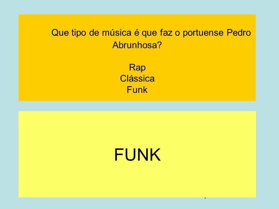 Que tipo de música é que faz o portuense Pedro Abrunhosa