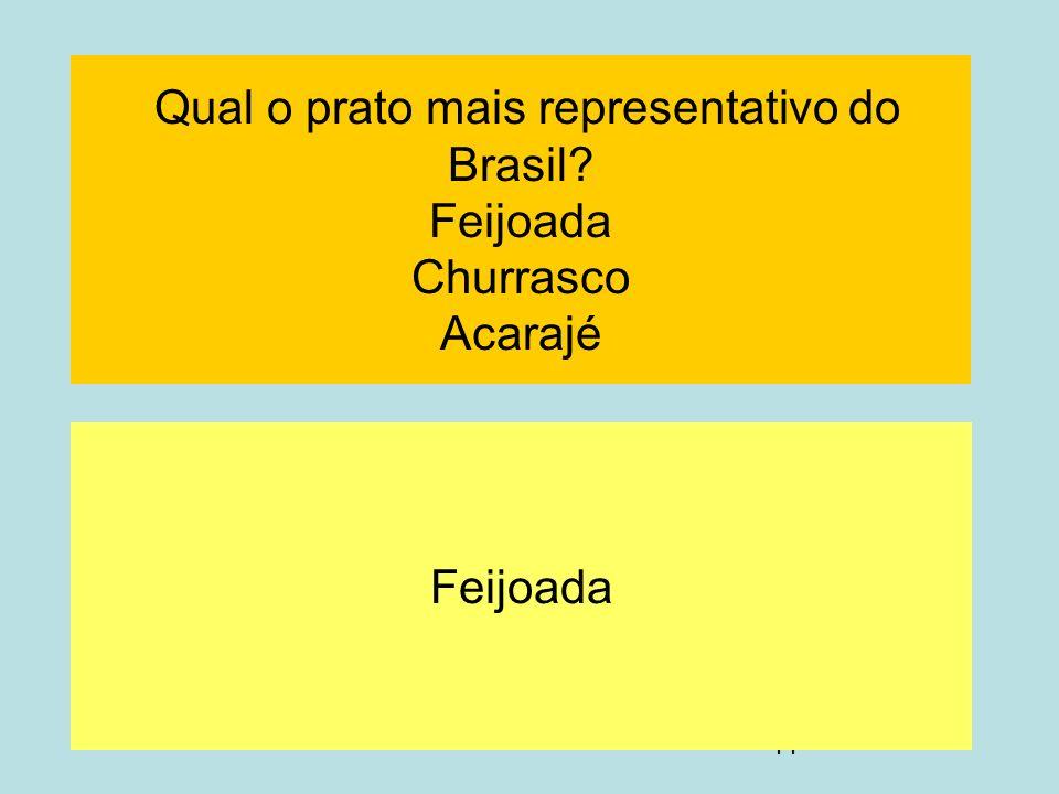 Qual o prato mais representativo do Brasil Feijoada Churrasco Acarajé