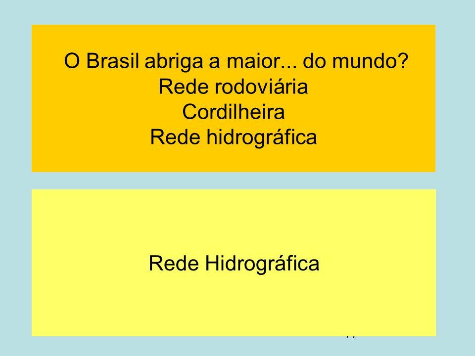 O Brasil abriga a maior. do mundo