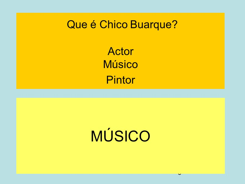 Que é Chico Buarque Actor Músico Pintor