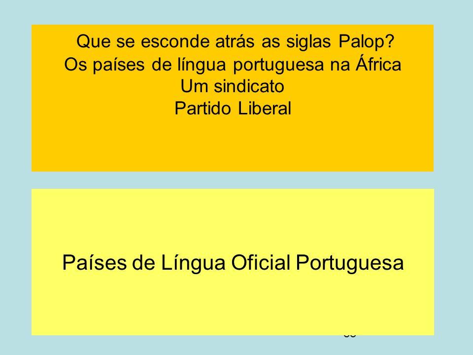 Países de Língua Oficial Portuguesa