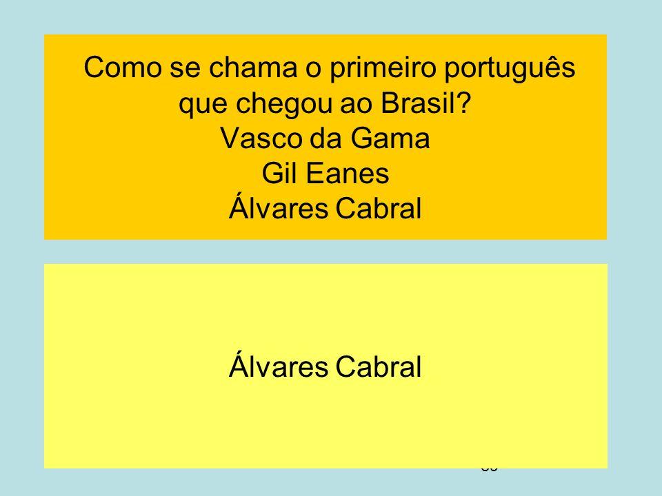 Como se chama o primeiro português que chegou ao Brasil