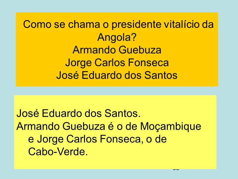 Como se chama o presidente vitalício da Angola
