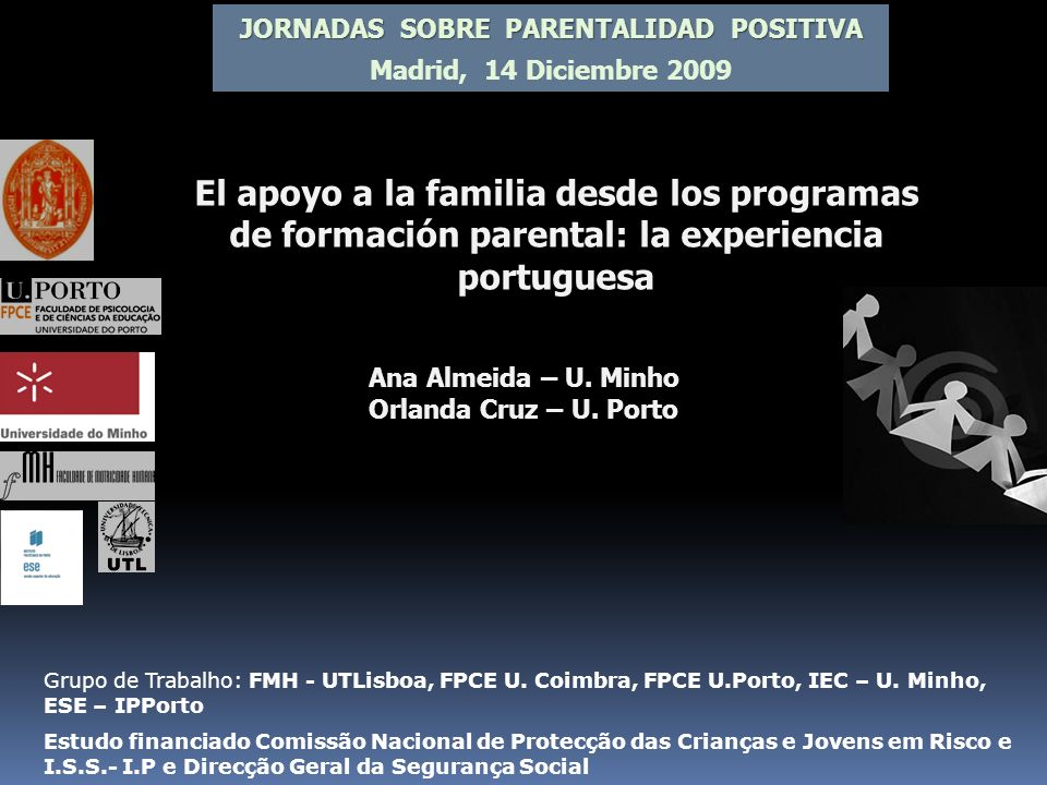 JORNADAS SOBRE PARENTALIDAD POSITIVA