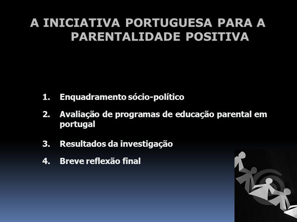 A INICIATIVA PORTUGUESA PARA A PARENTALIDADE POSITIVA