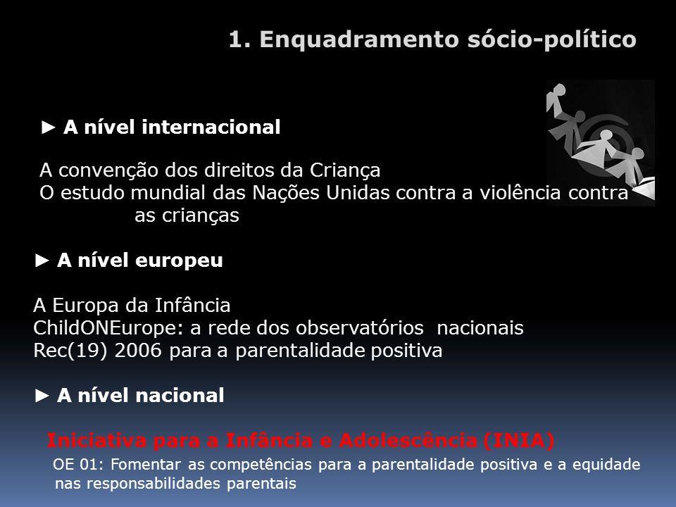 1. Enquadramento sócio-político
