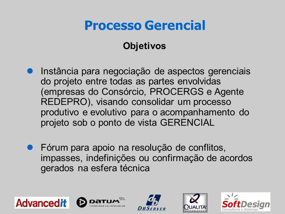 Processo Gerencial Objetivos
