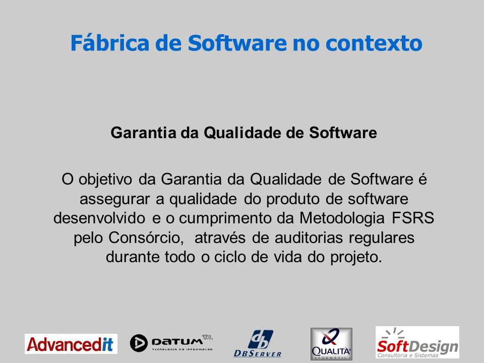 Fábrica de Software no contexto