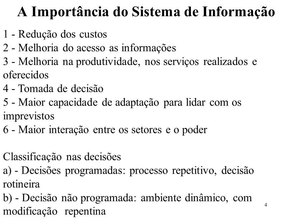A Importância do Sistema de Informação