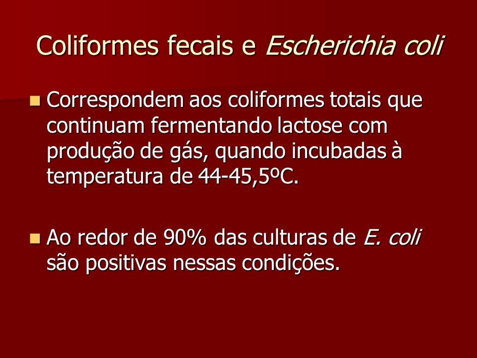 Coliformes fecais e Escherichia coli