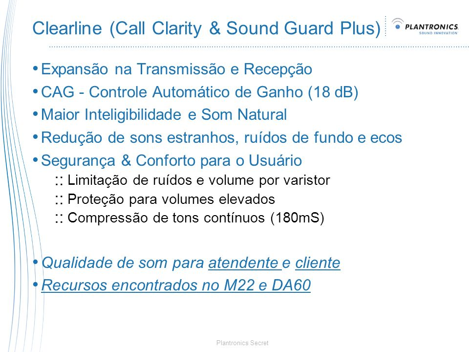 Clearline (Call Clarity & Sound Guard Plus)