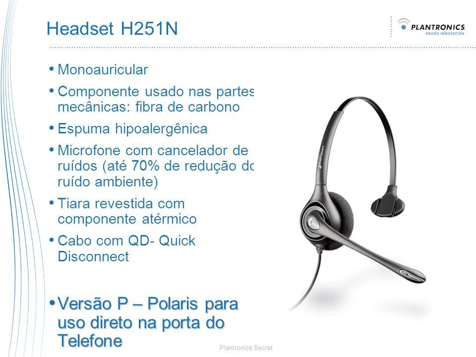 Headset H251N Versão P – Polaris para uso direto na porta do Telefone
