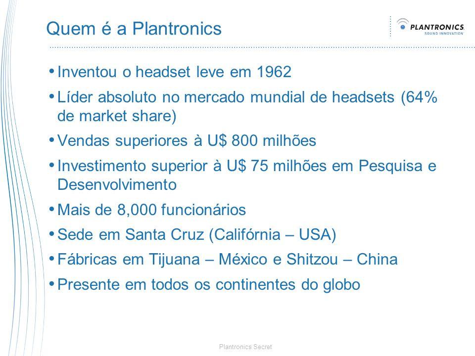 Quem é a Plantronics Inventou o headset leve em 1962