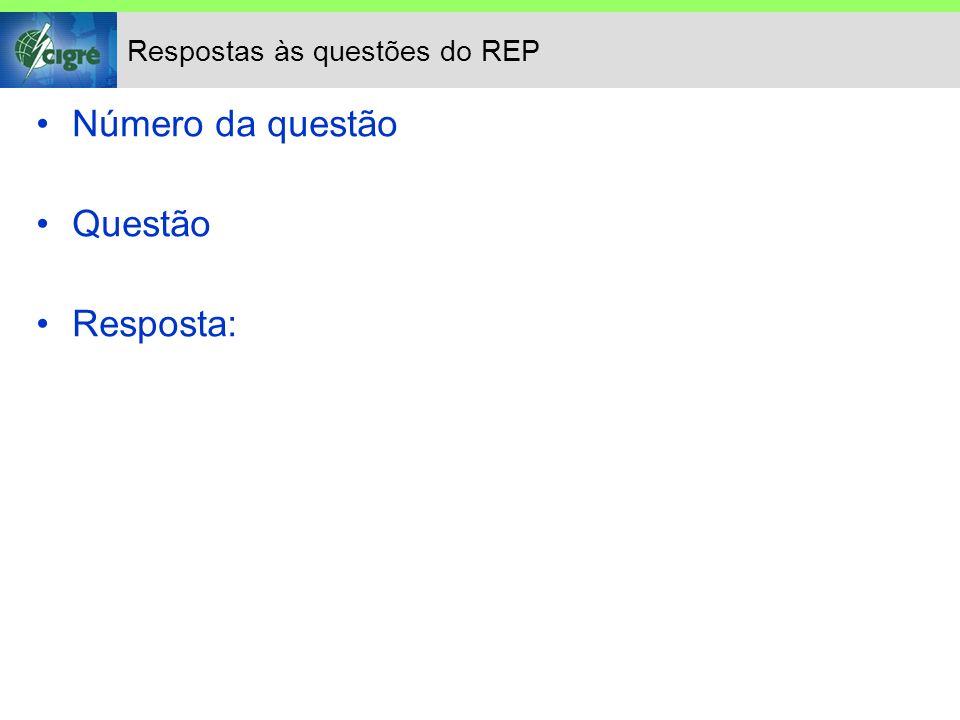 Respostas às questões do REP