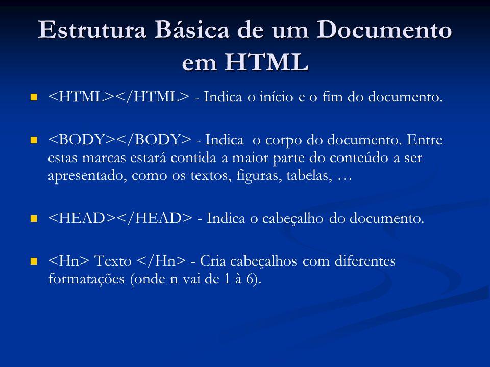 Estrutura Básica de um Documento em HTML