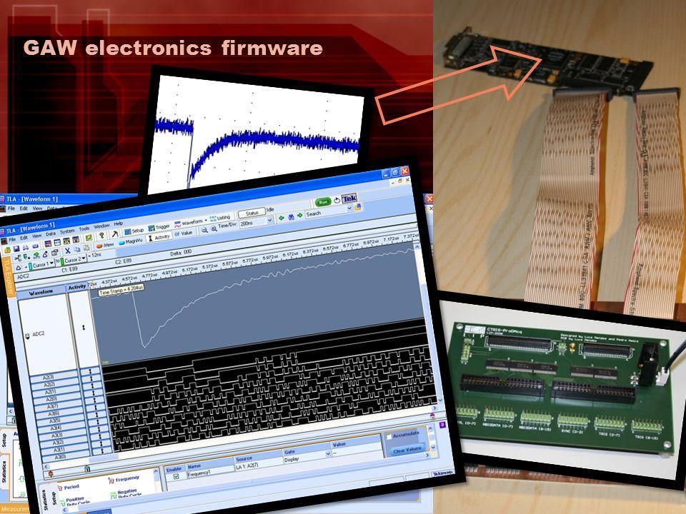 GAW electronics firmware