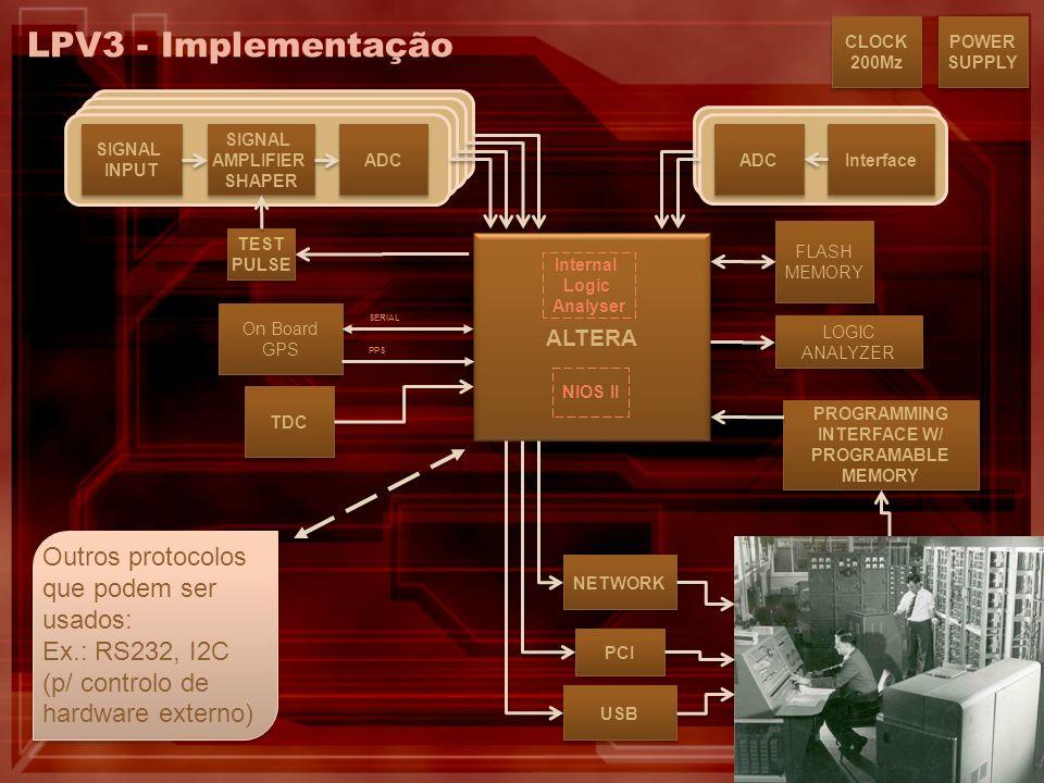 LPV3 - Implementação Outros protocolos que podem ser usados:
