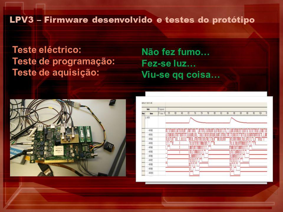 Teste eléctrico: Não fez fumo… Teste de programação: Fez-se luz…