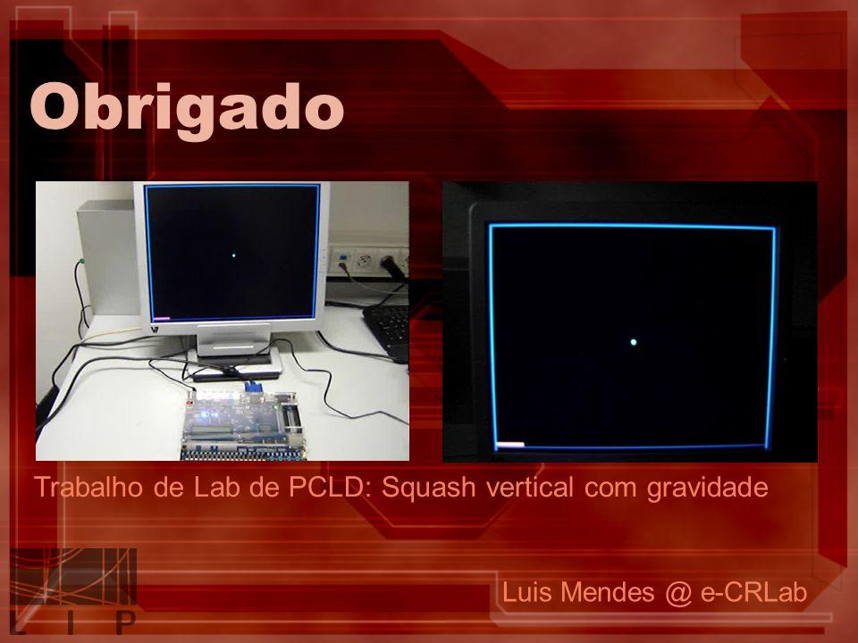 Obrigado Trabalho de Lab de PCLD: Squash vertical com gravidade