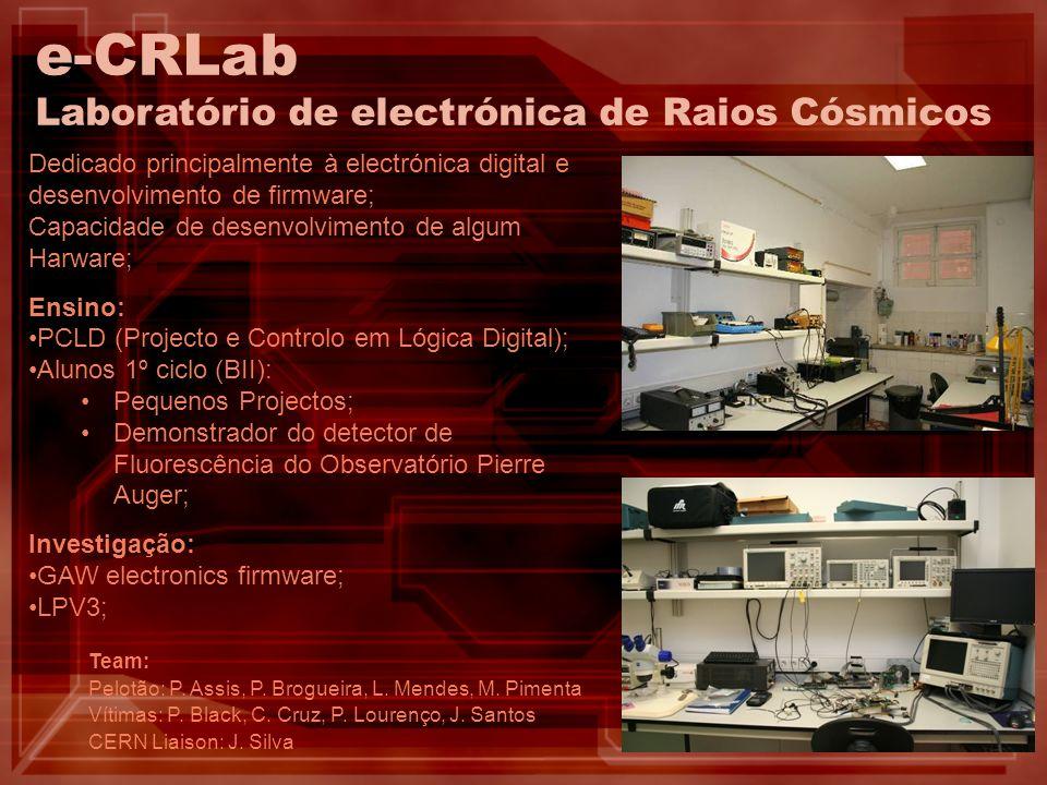 e-CRLab Laboratório de electrónica de Raios Cósmicos