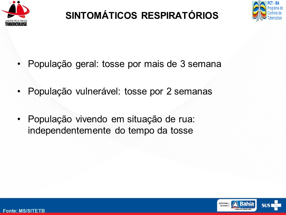 SINTOMÁTICOS RESPIRATÓRIOS