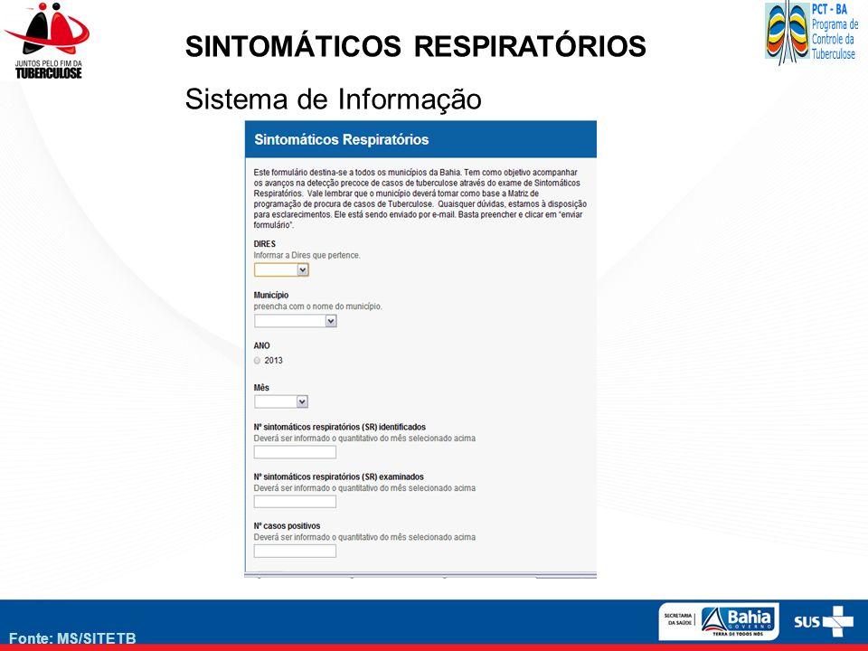 SINTOMÁTICOS RESPIRATÓRIOS Sistema de Informação