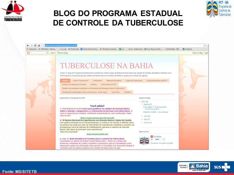 BLOG DO PROGRAMA ESTADUAL DE CONTROLE DA TUBERCULOSE