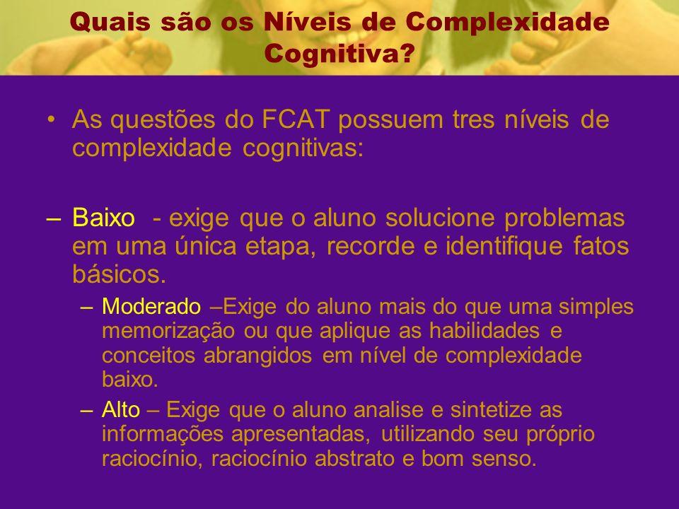 Quais são os Níveis de Complexidade Cognitiva