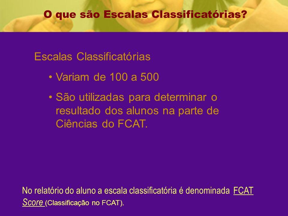 O que são Escalas Classificatórias