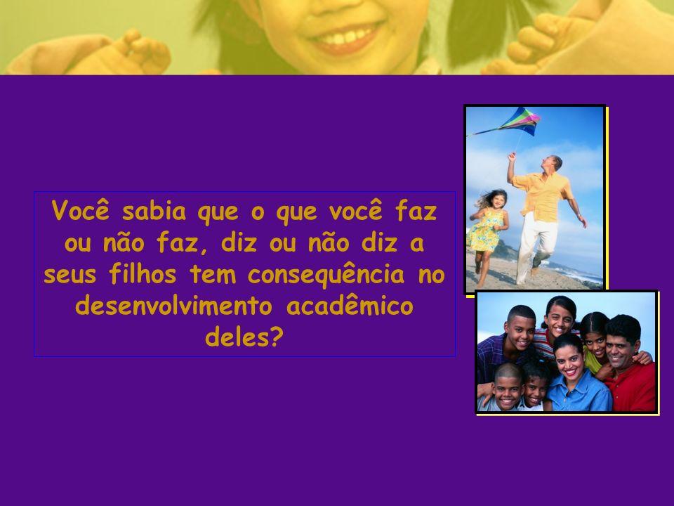 Você sabia que o que você faz ou não faz, diz ou não diz a seus filhos tem consequência no desenvolvimento acadêmico deles