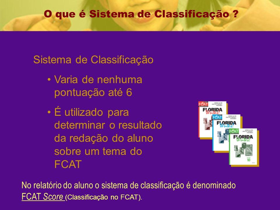 O que é Sistema de Classificação