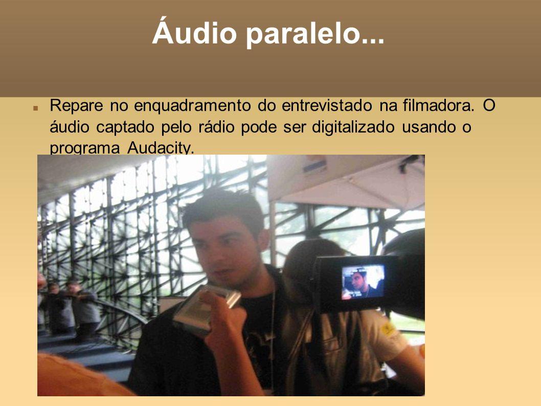 Áudio paralelo...