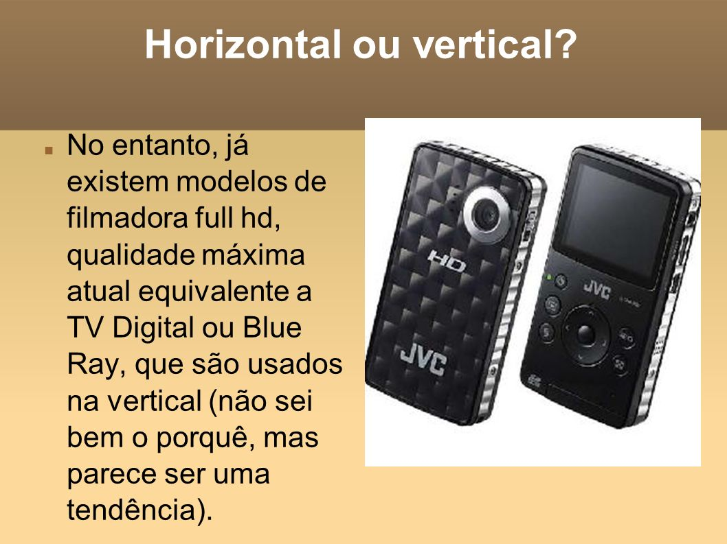 Horizontal ou vertical