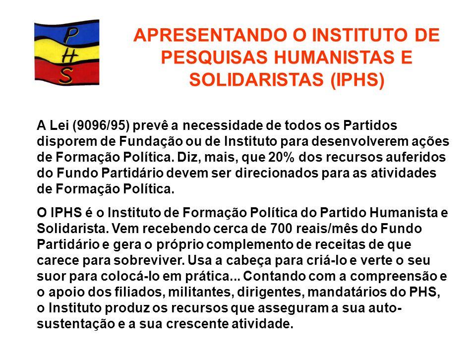 APRESENTANDO O INSTITUTO DE PESQUISAS HUMANISTAS E SOLIDARISTAS (IPHS)