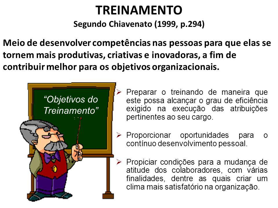 Segundo Chiavenato (1999, p.294)