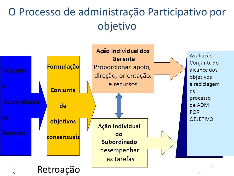 O Processo de administração Participativo por objetivo