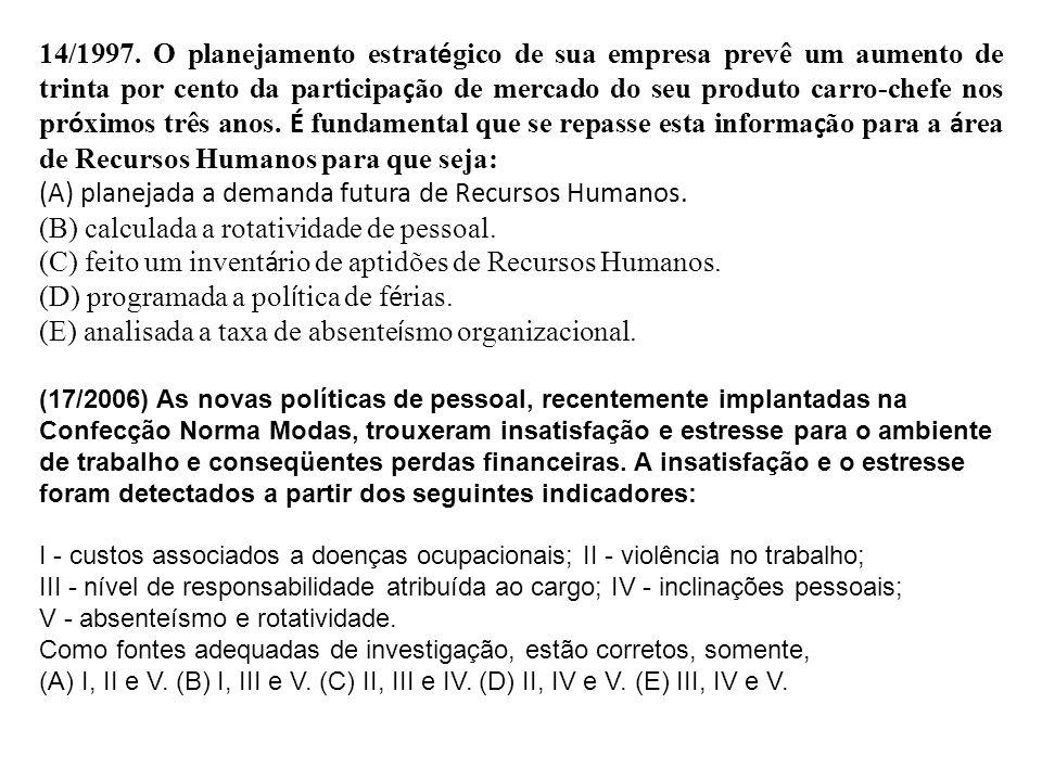 (A) planejada a demanda futura de Recursos Humanos.