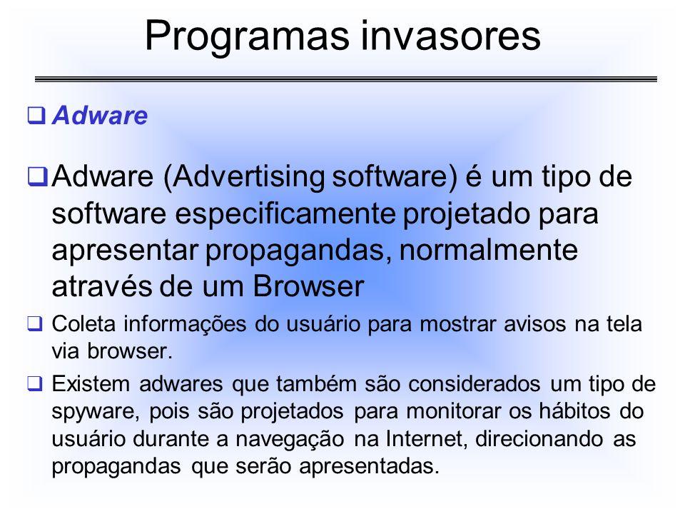 Programas invasores Adware.