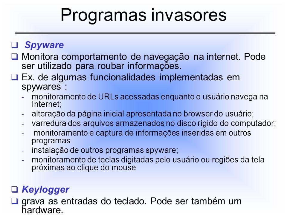 Programas invasores Spyware