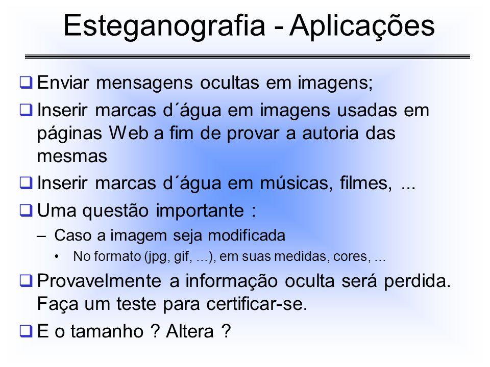 Esteganografia - Aplicações