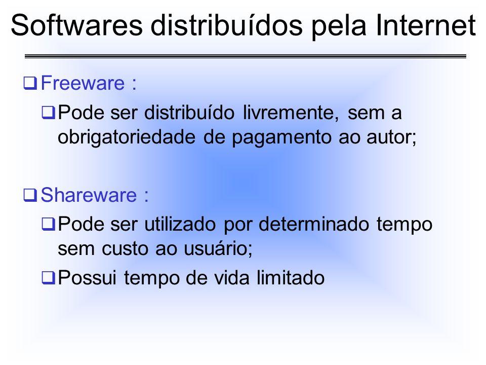 Softwares distribuídos pela Internet